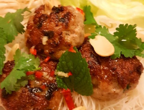 Bun Cha Inspired Pork Patties