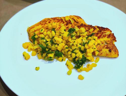 Spicy Fish with Corn & Coriander Salsa