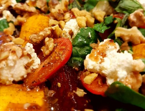 Roasted Pumpkin, Beetroot and Feta Salad