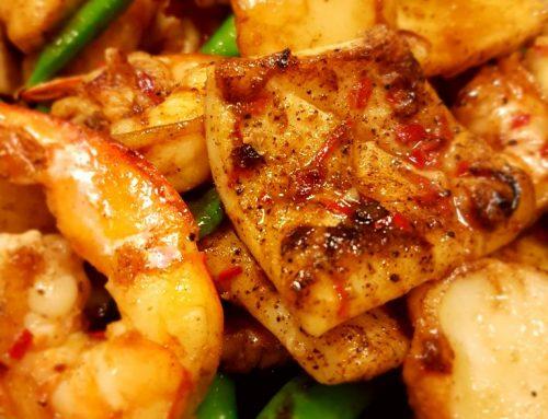 Little Effort Seafood Stir Fry